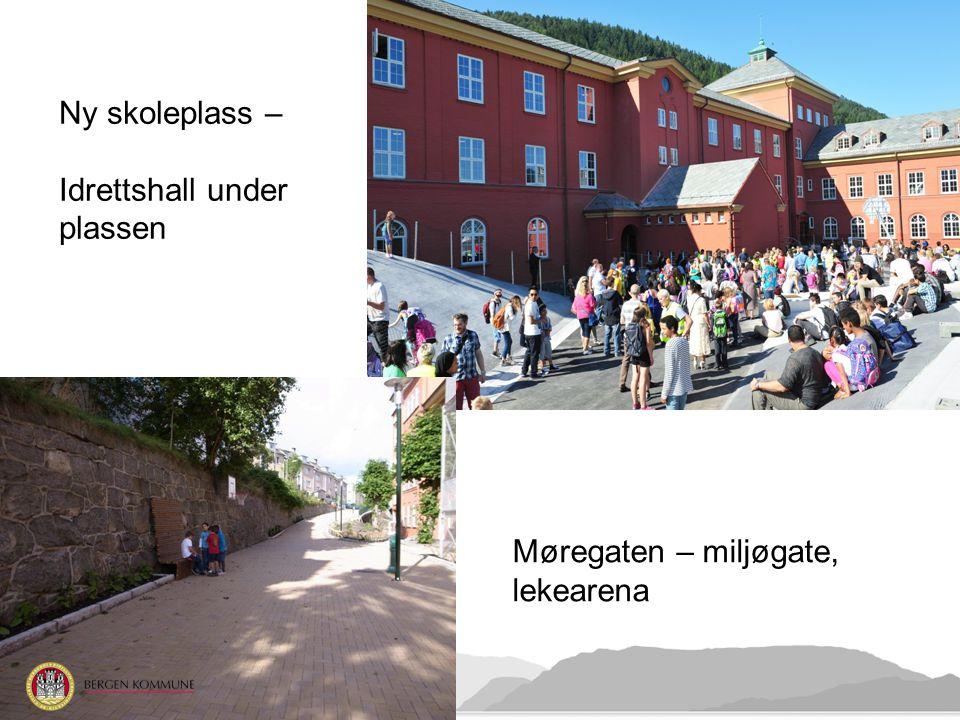 Ny skoleplass – Idrettshall under plassen Møregaten – miljøgate, lekearena