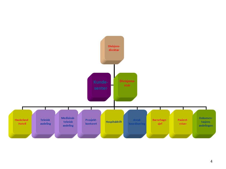 Helse Bergens eiendoms organisering - Kopling langsiktig strategi – utvikling bygg - Kopling investeringsbudsjett -driftsøkonomi - Kopling bruker- byggherre - Byggherre utfordrer bestiller i arealbehov og funksjoner - Balanserer løpende drift – byggevirksomhet - Bygger nytt i/på eksisterende sykehusområder - Har løpende volum på byggevirksomhet (~ 1 mld årlig) - Tett kopling medisinsk utstyr investeringer MTU-bygg - Kostnadsdekkende Internleie - Drifts- og vedlikeholdsbudsjett basert på faktisk areal (+/-) - Årlige faste infrastruktur investeringer bøter på etterslep