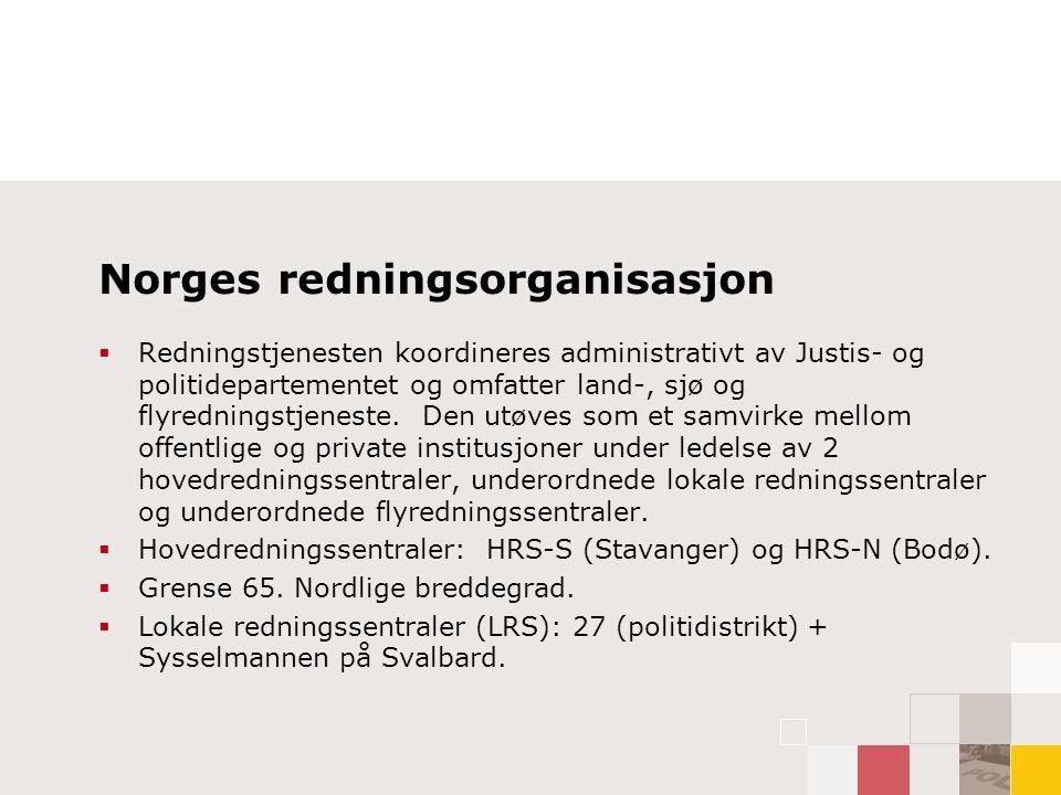 Norges redningsorganisasjon forts.