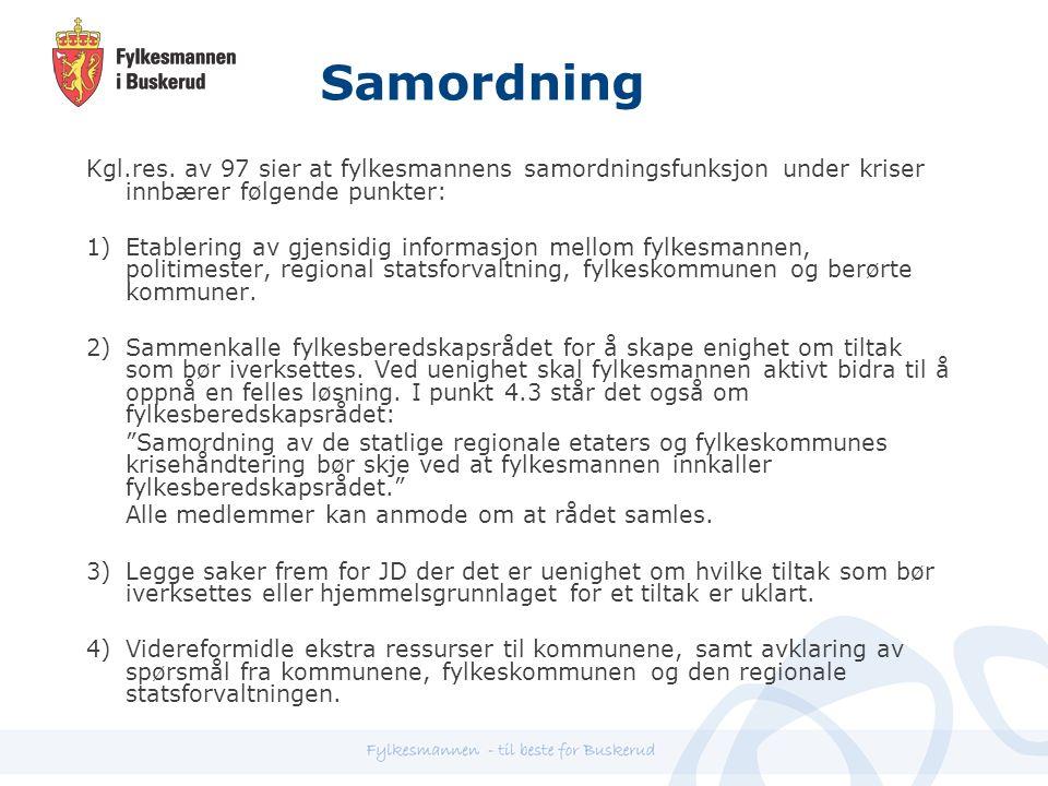 Samordning Kgl.res.