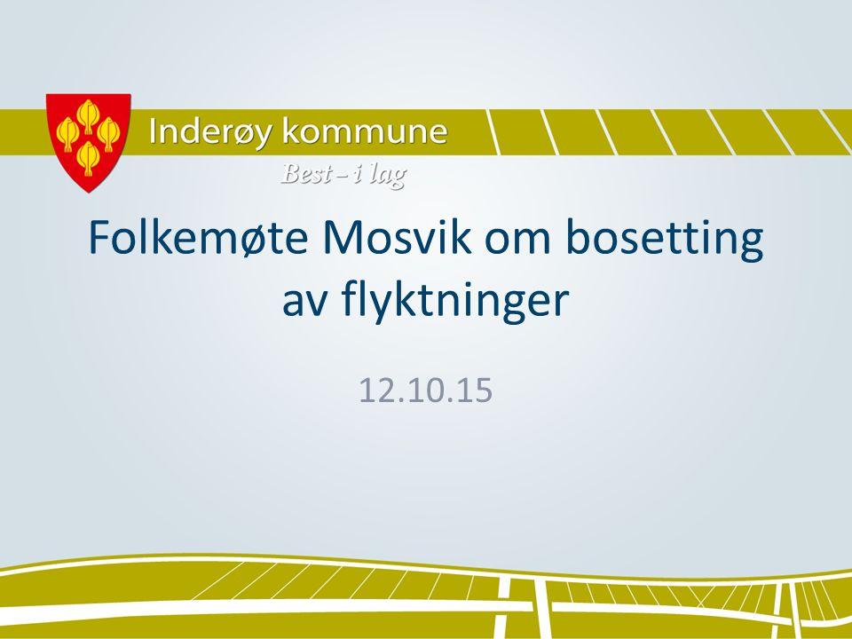 Folkemøte Mosvik om bosetting av flyktninger 12.10.15