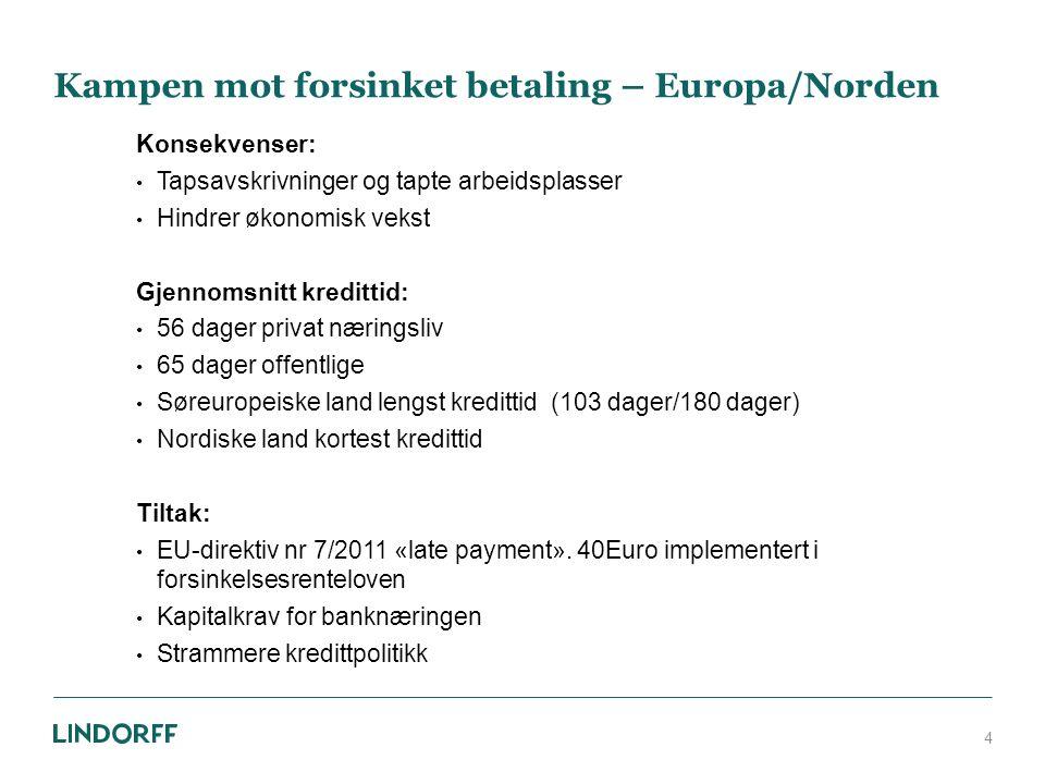 Antall inkassosaker i Norge Saker rapportert til Kredittilsynet 5