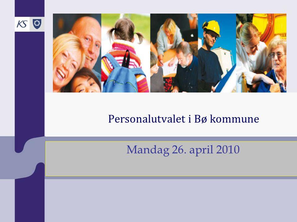 Personalutvalet i Bø kommune Mandag 26. april 2010