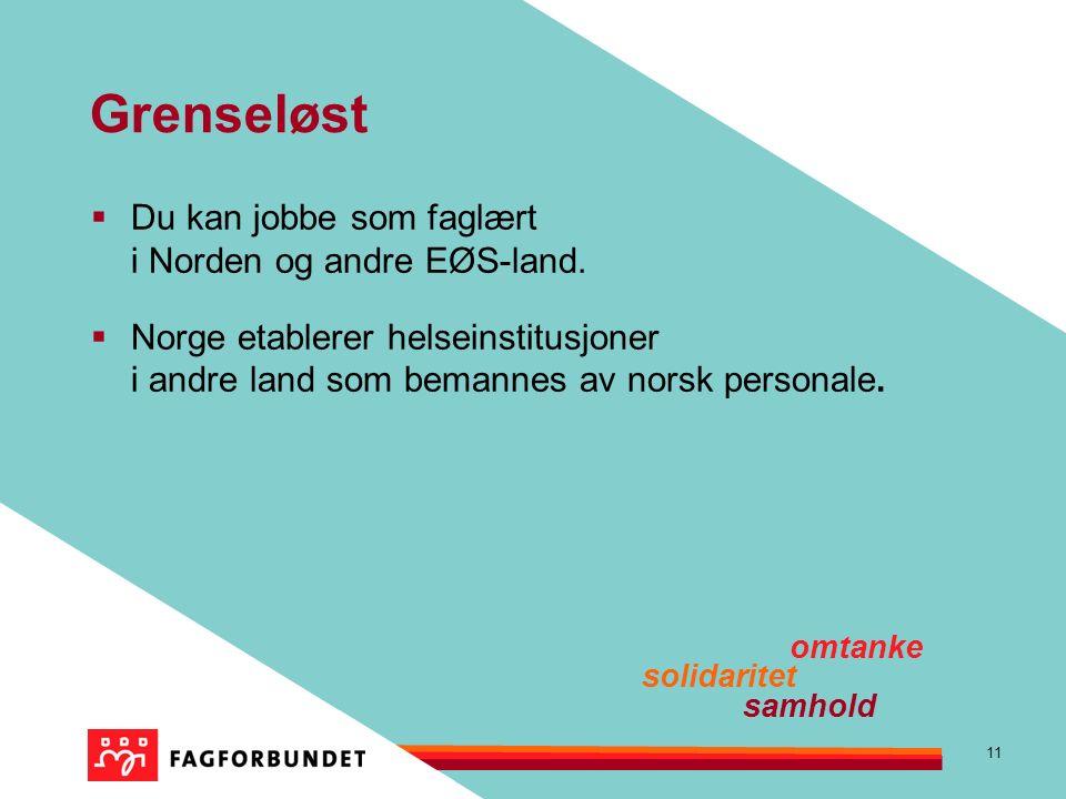 11 Grenseløst  Du kan jobbe som faglært i Norden og andre EØS-land.