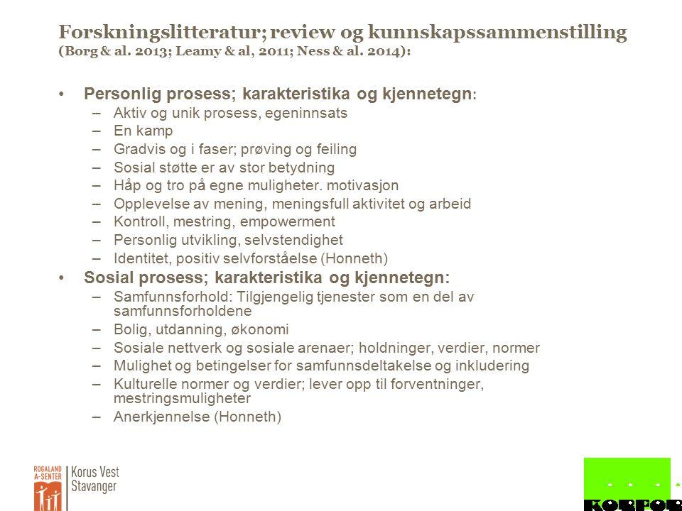 Forskningslitteratur; review og kunnskapssammenstilling (Borg & al.