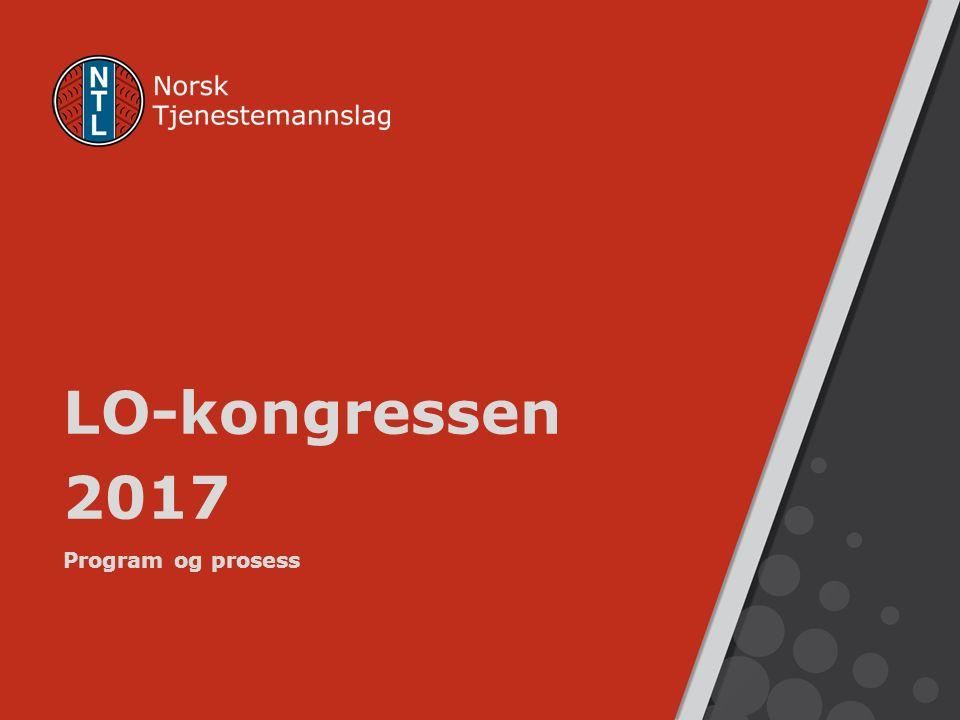 LO-kongressen 2017 Program og prosess