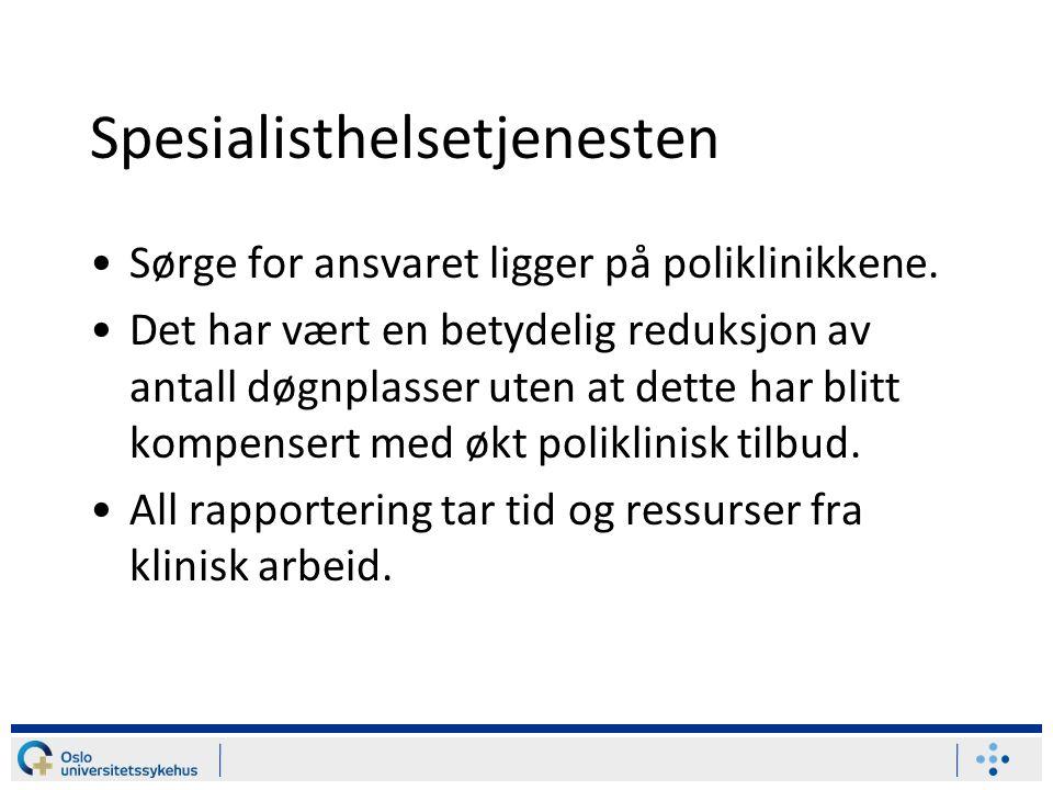 Spesialisthelsetjenesten Sørge for ansvaret ligger på poliklinikkene.