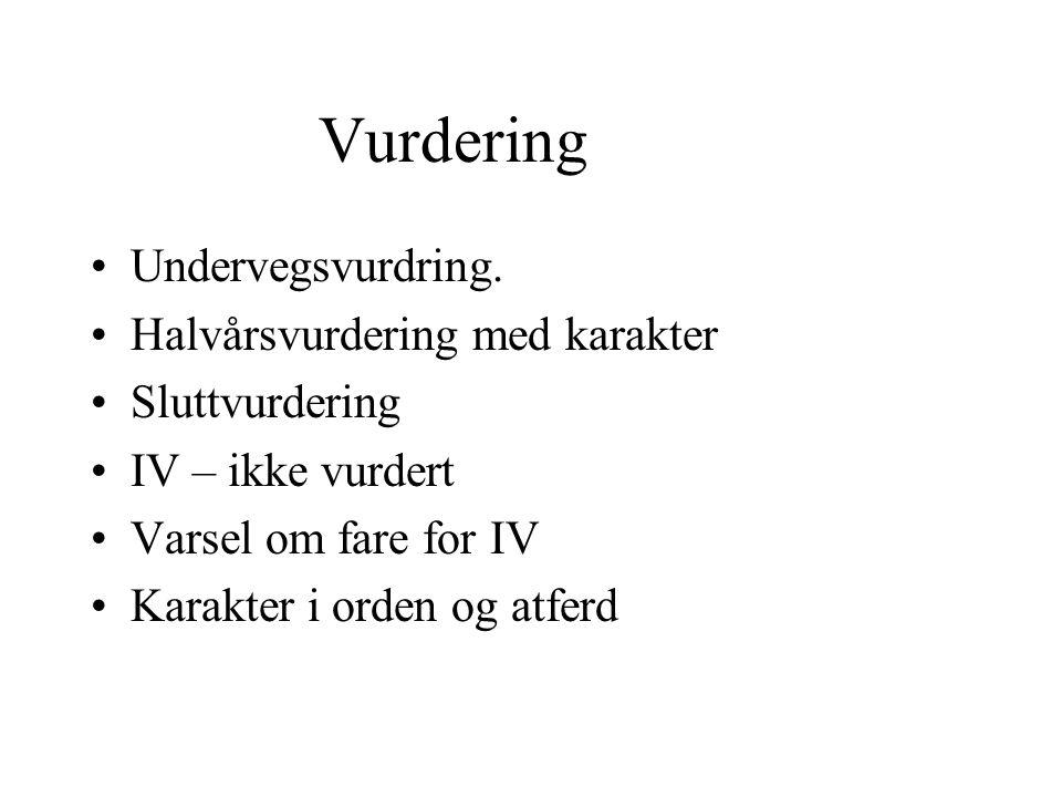 Vurdering Undervegsvurdring.