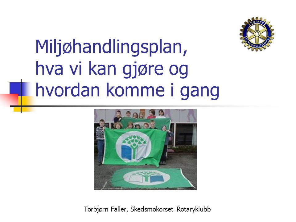 Torbjørn Faller, Skedsmokorset Rotaryklubb Miljøhandlingsplan, hva vi kan gjøre og hvordan komme i gang