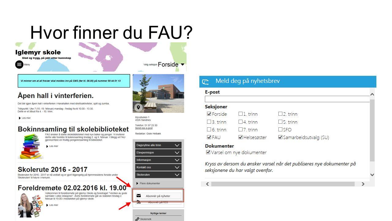 Hvor finner du FAU?