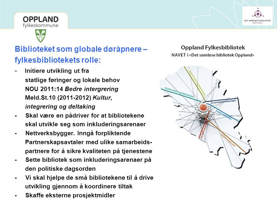 Bibliotekene er en ressurs Bibliotekene i Oppland ønsker å ta rollen som inkluderingsarenaer som statlige føringer legger opp til.