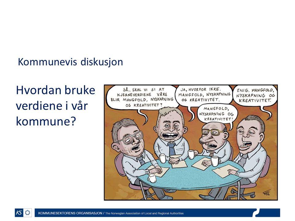 Kommunevis diskusjon Hvordan bruke verdiene i vår kommune?