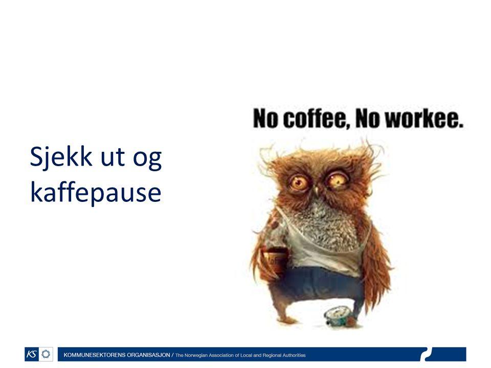 Sjekk ut og kaffepause