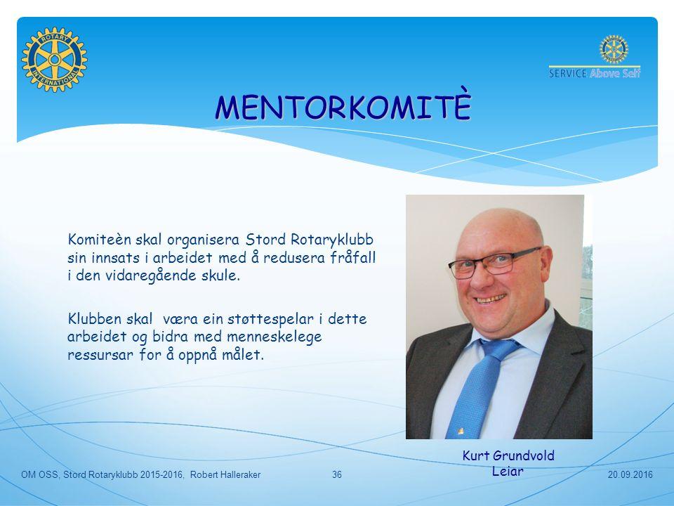 Komiteèn skal organisera Stord Rotaryklubb sin innsats i arbeidet med å redusera fråfall i den vidaregående skule.