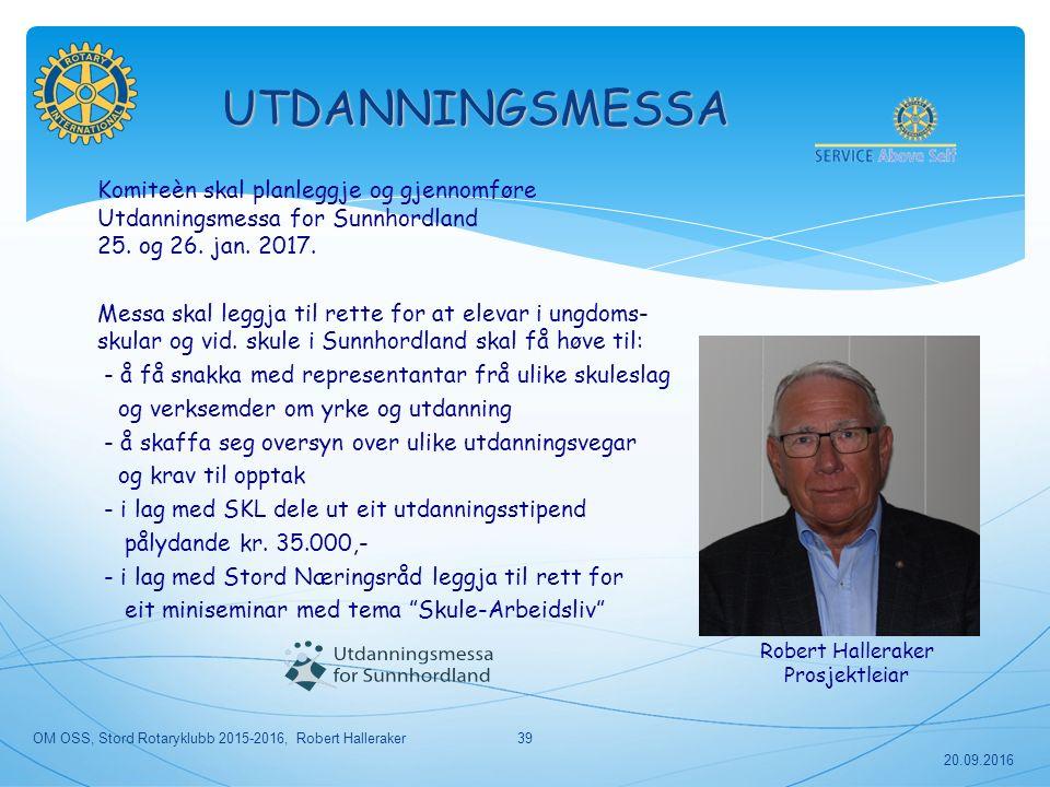 Komiteèn skal planleggje og gjennomføre Utdanningsmessa for Sunnhordland 25.