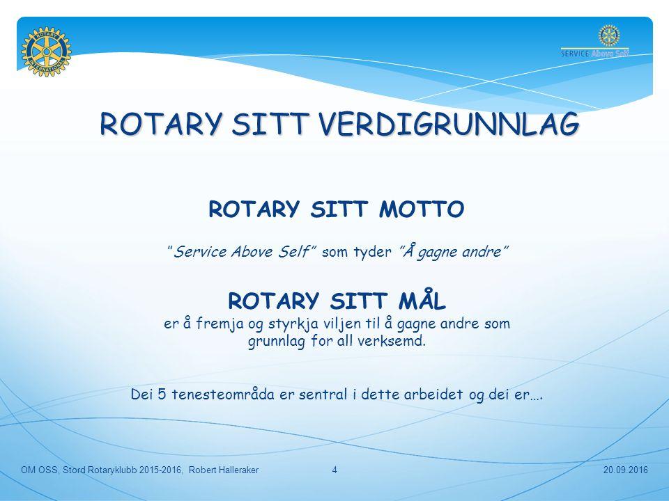 20.09.2016 OM OSS, Stord Rotaryklubb 2015-2016, Robert Halleraker 55 HER FINN DU INFORMASJON OM ROTARY OM ROTARY Om Stord RK: Om Rotary: Stord Rotaryklubb: www.stord.rotary.nowww.stord.rotary.no Om oss: www.stord.rotary.nowww.stord.rotary.no Utdanningsmessa for Sunnhordland: www.utdanningsmessa.nowww.utdanningsmessa.no Distrikt 2250: www.rotary.no/d2250www.rotary.no/d2250 Guvernørens månadsbrev: «Vestlendingen» Handbok for klubbene i D-2250, 2013-2014 Rotary Norge: www.rotary.no Rotary Internasjonal: www.rotary.org Poliopluss: www.polioeradication.org Vassprosjekt: www.wasrag.org