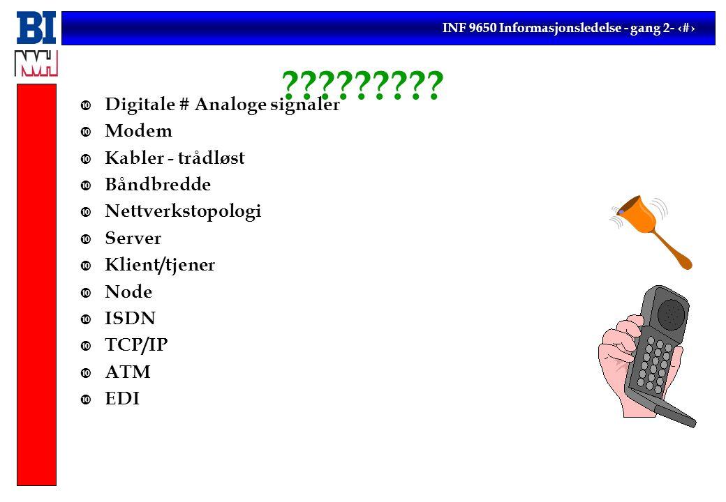 INF 9650 Informasjonsledelse - gang 2- 12 .
