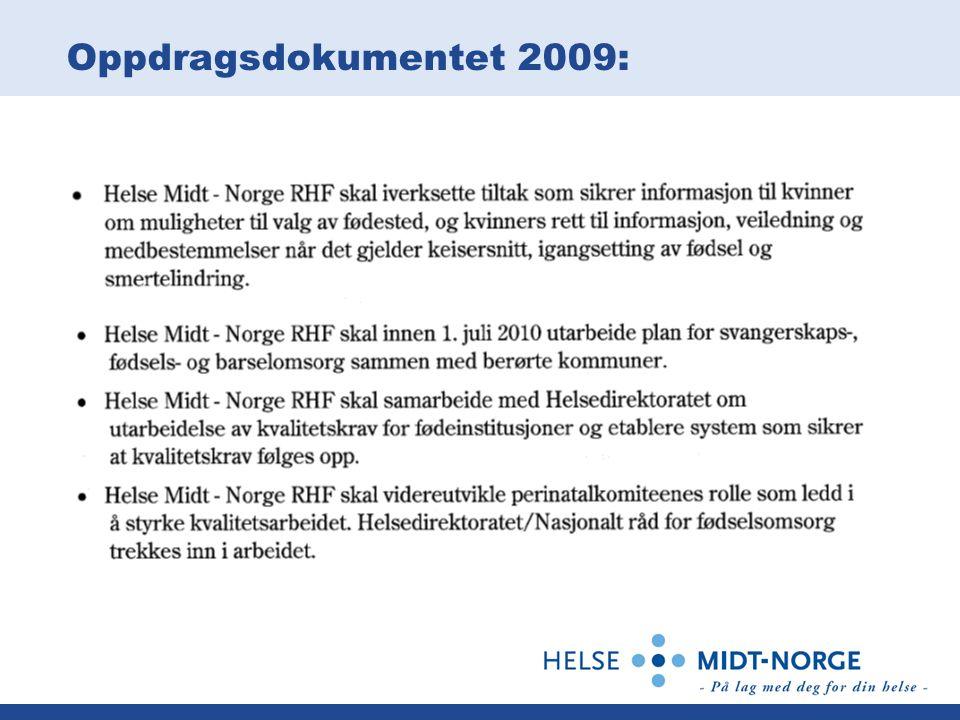 Oppdragsdokumentet 2009: