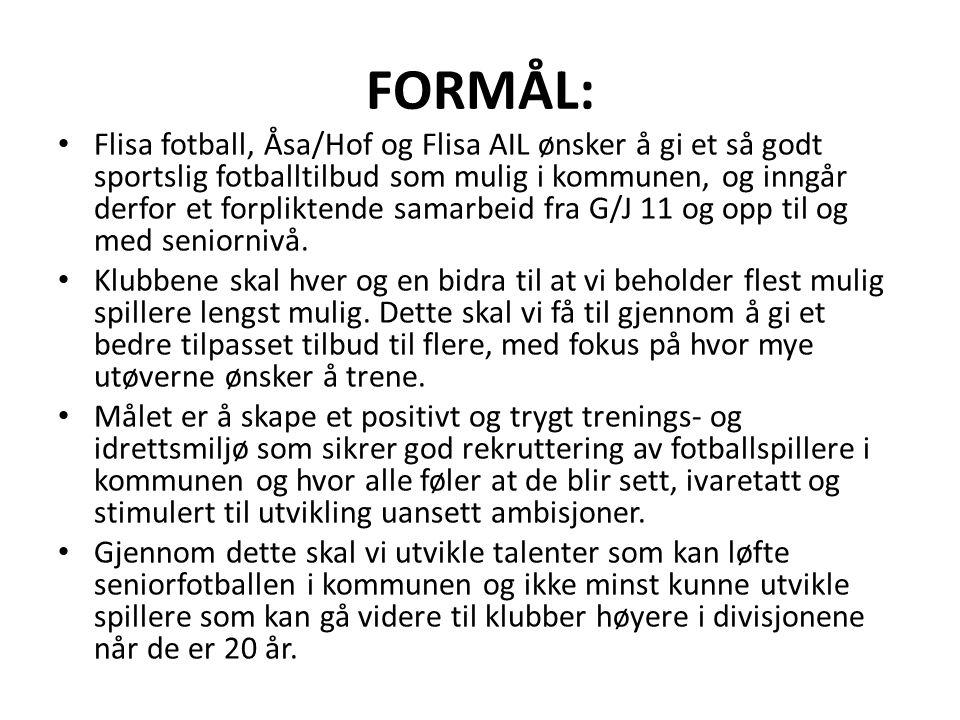 Jentene J16 Jenter – Flisa AIL/Åsa/Hof Det forutsettes at laget gjennom året har 4 økter i uka.
