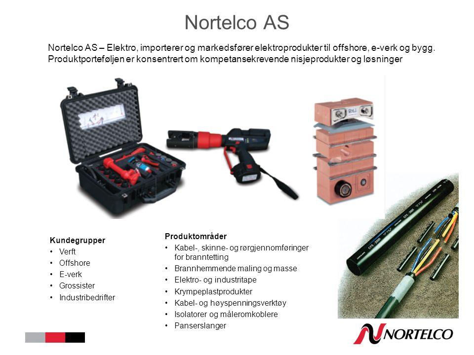 Nortelco AS Nortelco AS – Elektro, importerer og markedsfører elektroprodukter til offshore, e-verk og bygg.