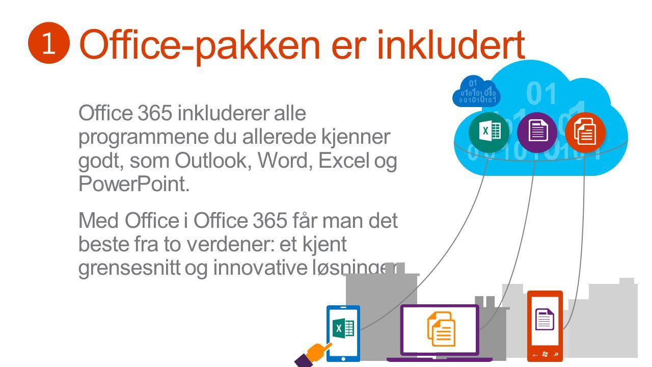 ☆ Kom i gang kostnadsfritt på office365.no Spør din IT-leverandør om Office 365 Se flere tips på FastTrack.office.com