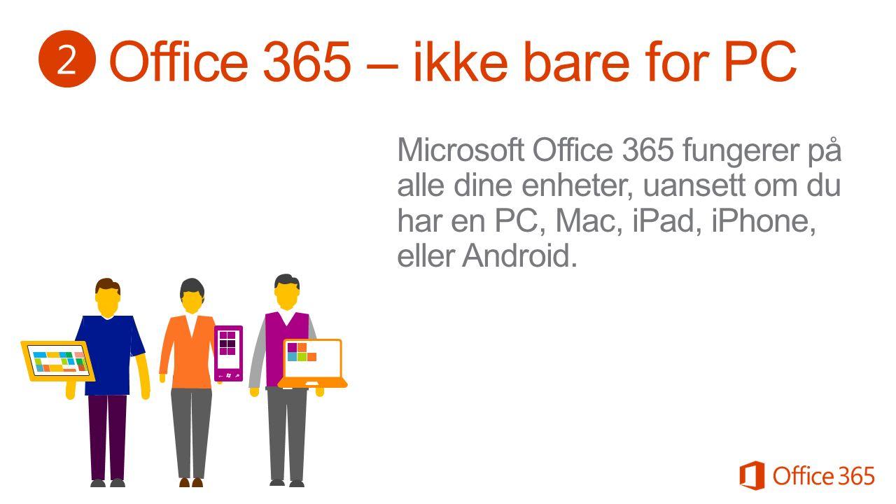 3 Microsoft Office finnes til PC, Mac, iPhone, iPad og Android.
