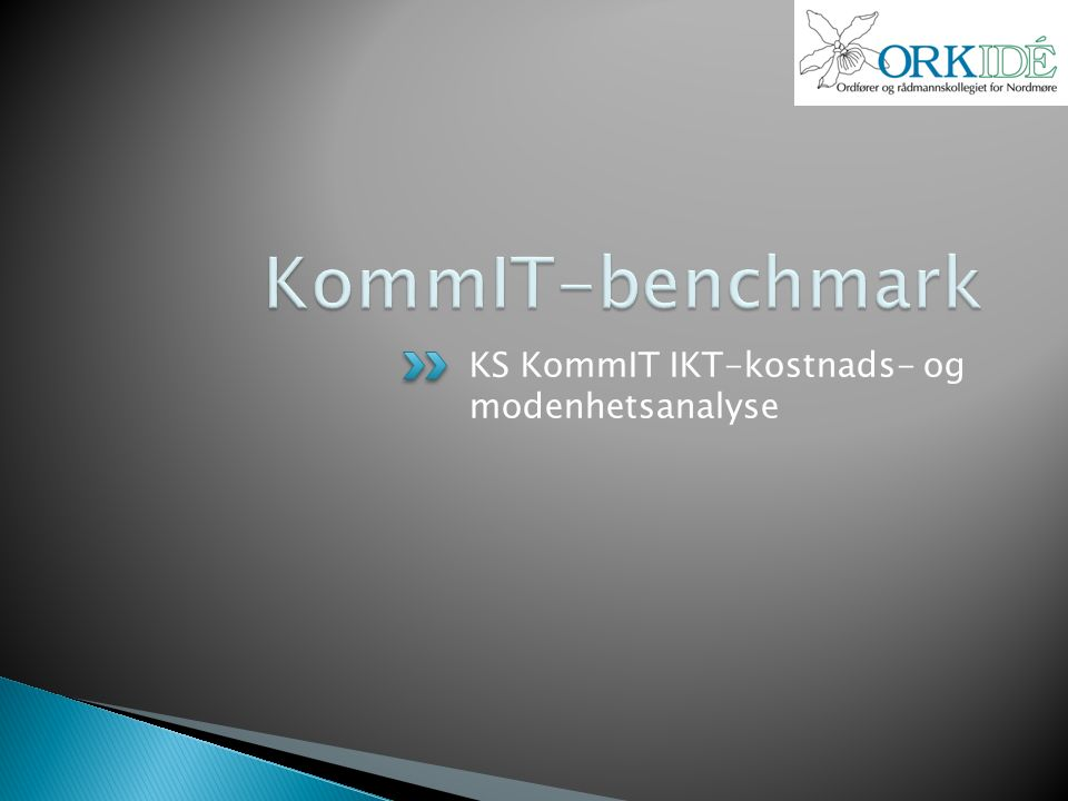 KS KommIT IKT-kostnads- og modenhetsanalyse