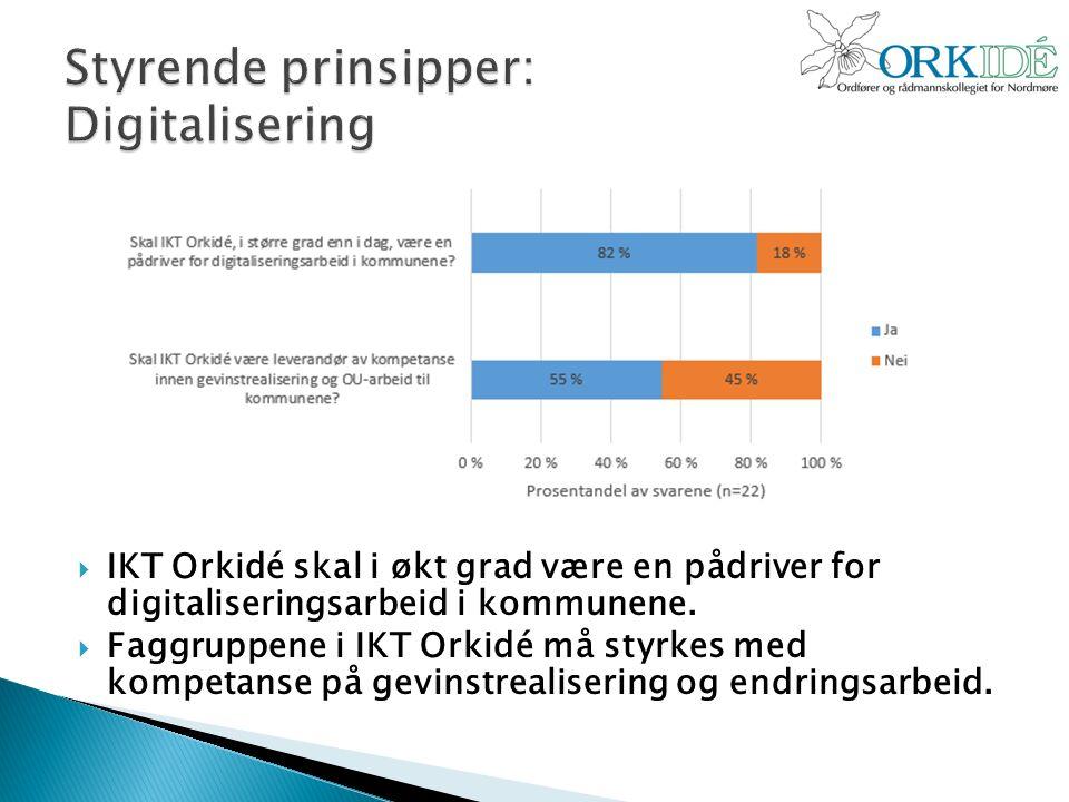  IKT Orkidé skal i økt grad være en pådriver for digitaliseringsarbeid i kommunene.