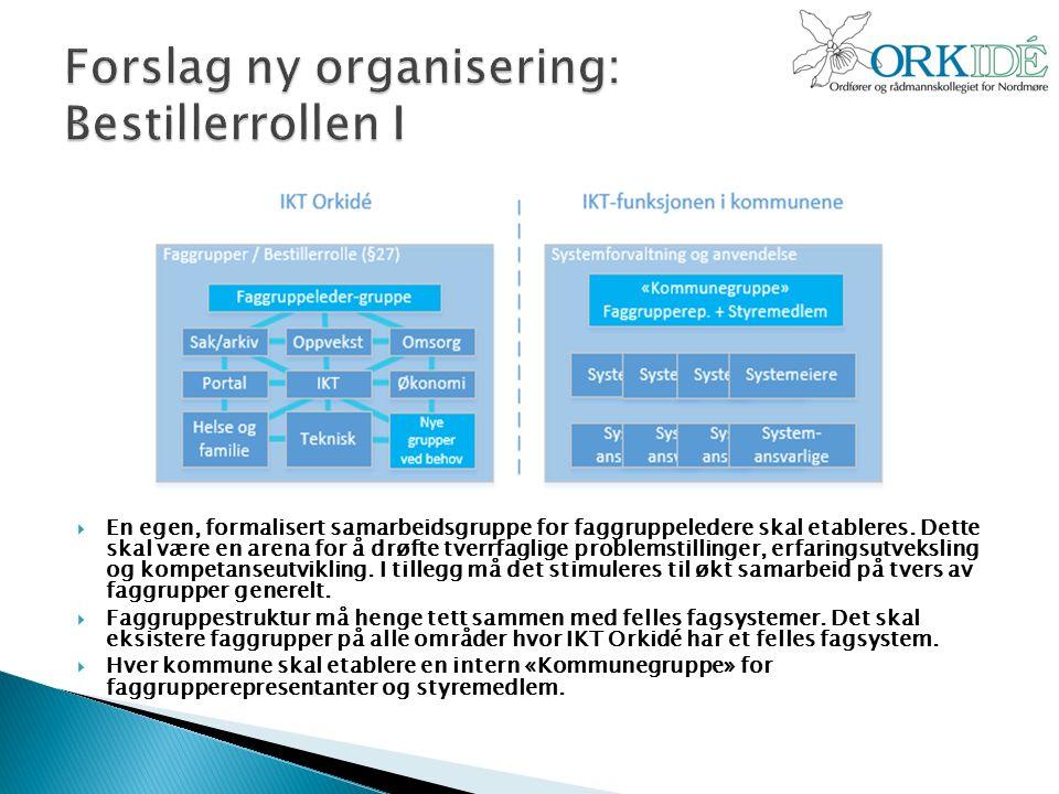  En egen, formalisert samarbeidsgruppe for faggruppeledere skal etableres.