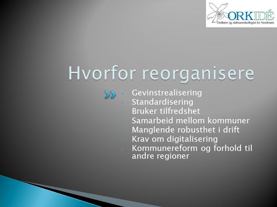 Utvidet saksframlegg bør inneholde:  Invitasjon til kommunene til å delta i omorganiseringen av IKT Orkidé.
