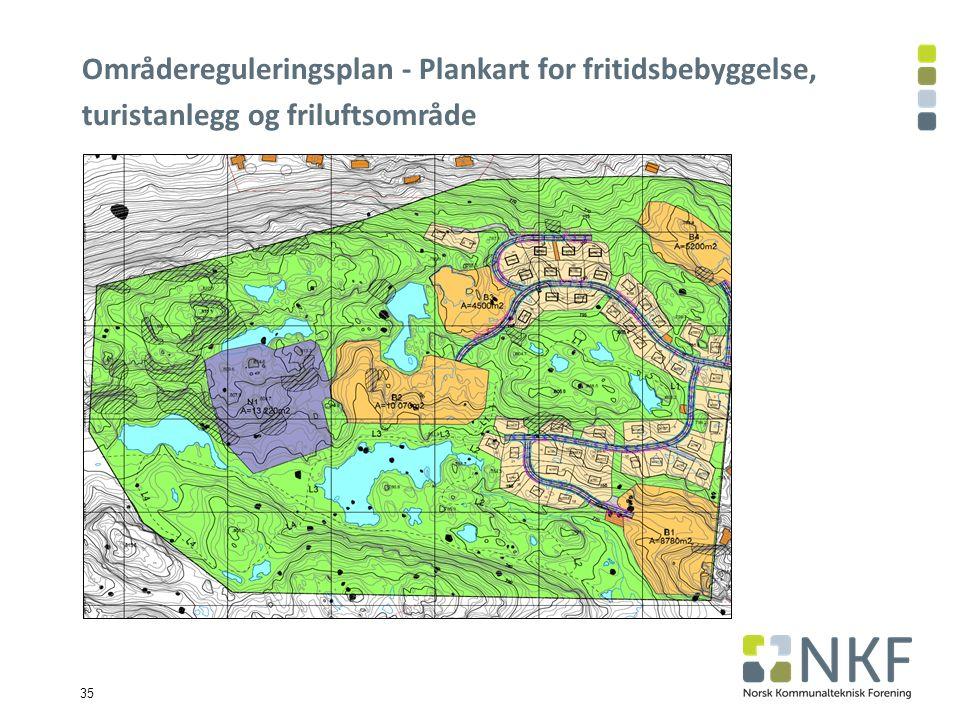 35 Områdereguleringsplan - Plankart for fritidsbebyggelse, turistanlegg og friluftsområde