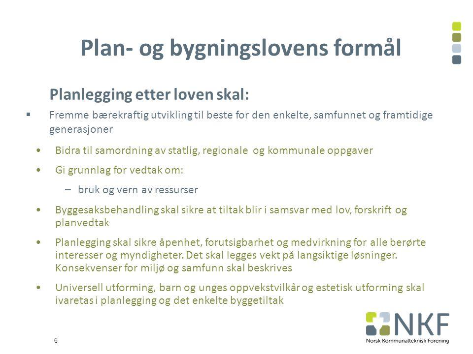 17 1.Plan – og bygningsloven 2. Planmyndigheter og plannivåer 3.