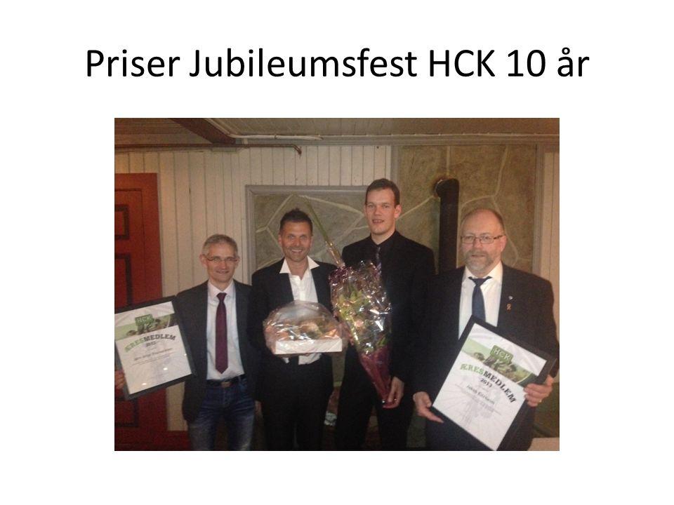 Priser Jubileumsfest HCK 10 år