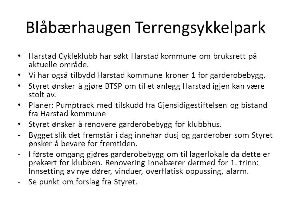 Blåbærhaugen Terrengsykkelpark Harstad Cykleklubb har søkt Harstad kommune om bruksrett på aktuelle område.