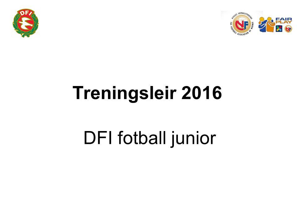 Treningsleir 2016 DFI fotball junior
