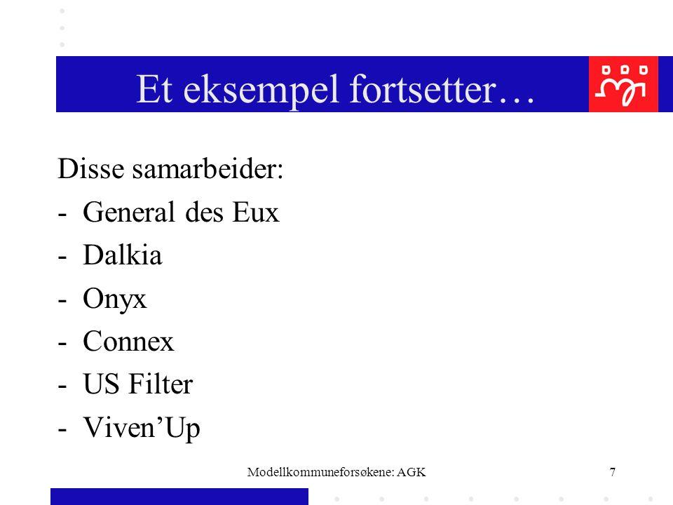 Modellkommuneforsøkene: AGK18 Brukervalg/OPS Iveren etter å konkurranseutsette er redusert.Nå framheves alternativet fritt brukervalg til tross for skandalerapporter fra Danmark, Sverige og New Zealand.