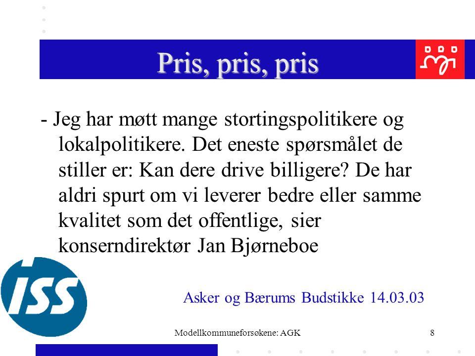 Modellkommuneforsøkene: AGK19 En norsk tillits- valgts følelse
