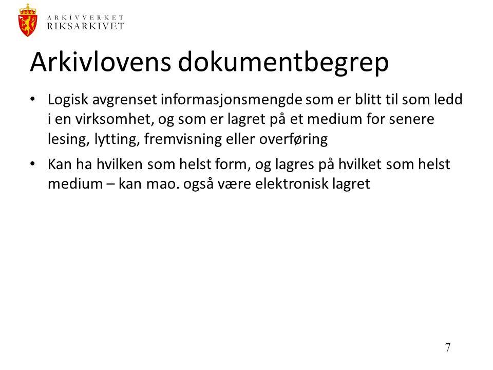 18 Noark og SGK Noark som innbygd funksjonalitet i saksbehandlingssystem (SGK) (eller: SGK som saksbehandlingsomgivelse for Noark-system)