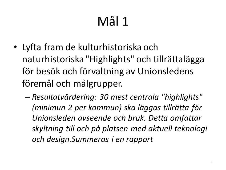 Mål 2 Öka kompetensen och förbättra storytellingen om det norsk-svenska kulturarvet som finns i gränsregionen, och om konceptet Unionsleden genom att genomföra kompetensåtgärderiktat mot de aktörer som ingår I samarbetsstrukturen.