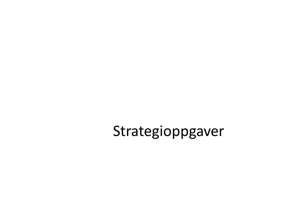 Strategioppgaver