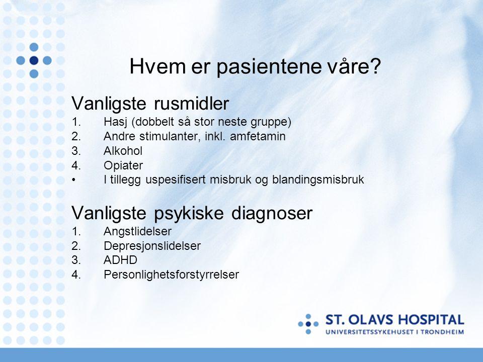Hvem er pasientene våre.