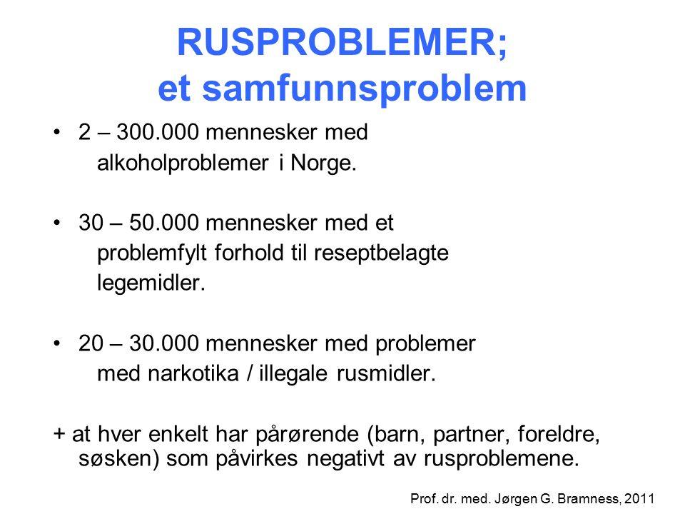 RUSPROBLEMER; et samfunnsproblem 2 – 300.000 mennesker med alkoholproblemer i Norge.