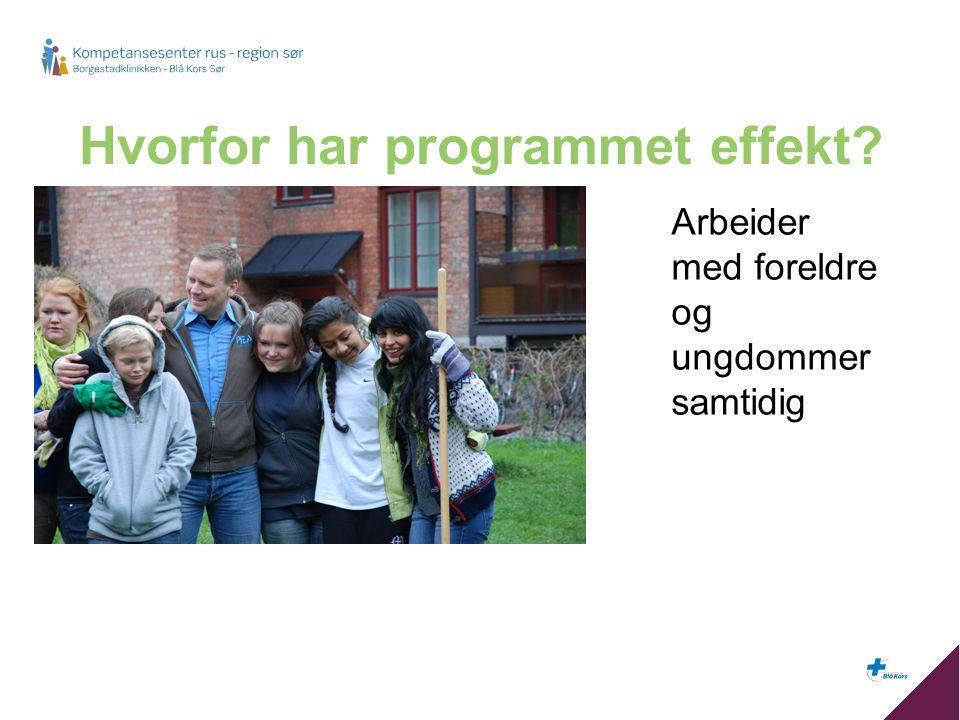 Hvorfor har programmet effekt? Arbeider med foreldre og ungdommer samtidig