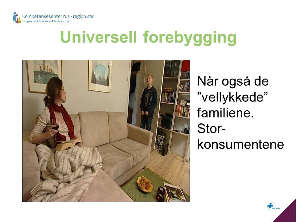 Universell forebygging Når også de vellykkede familiene. Stor- konsumentene