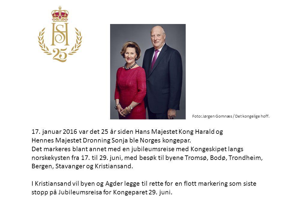 17. januar 2016 var det 25 år siden Hans Majestet Kong Harald og Hennes Majestet Dronning Sonja ble Norges kongepar. Det markeres blant annet med en j