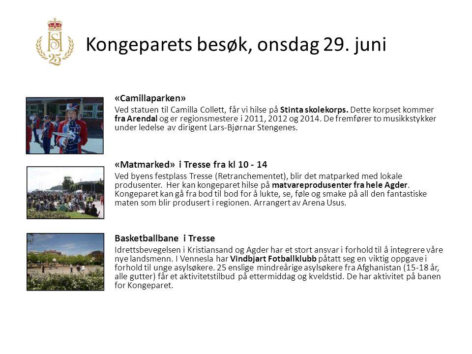 Kongeparets besøk, onsdag 29.juni Cafe Portalen Cafe Portalen er en virksomhet i Kirkens Bymisjon.