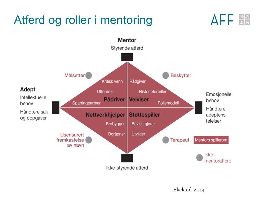 Atferd og roller i mentoring Ekeland 2014
