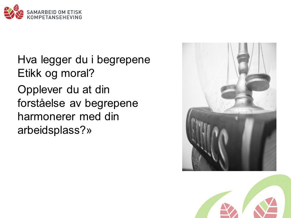 Det etiske felt: Mellomrommet Kilde: Marie Aakre, foredrag på etikkonferanse, KS oktober 2008