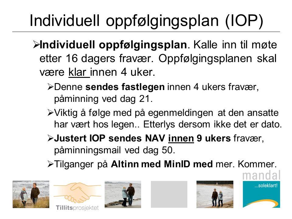 Individuell oppfølgingsplan (IOP)  Individuell oppfølgingsplan.