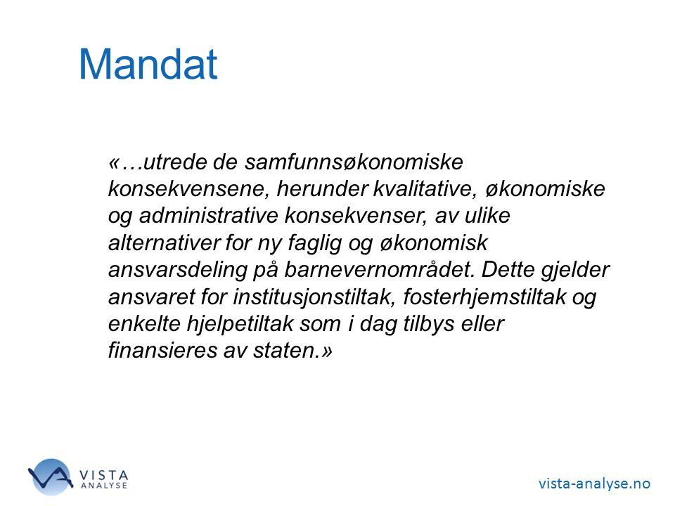 vista-analyse.no Kommunalt ansvar for rekrutteringen Bedre kvalitet og effektivitet.